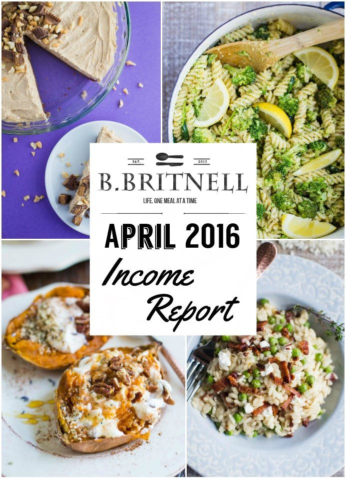 April 2016 Income Report- How I made over $900 this month from my food blog!