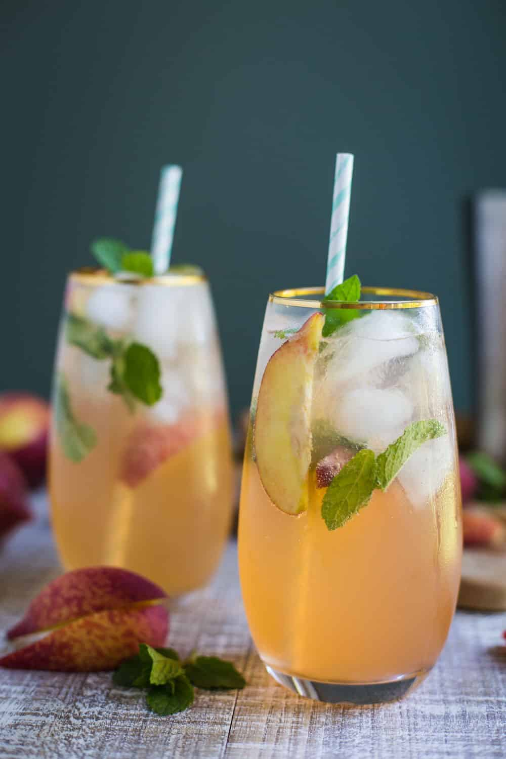 Peach Mojito- a simple fruity twist on the classic Mojito!