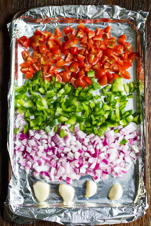 Baked Avocado Tacos w/ Roasted Veggie Salsa AND Sriracha Mayo- VEGAN and delicious!!