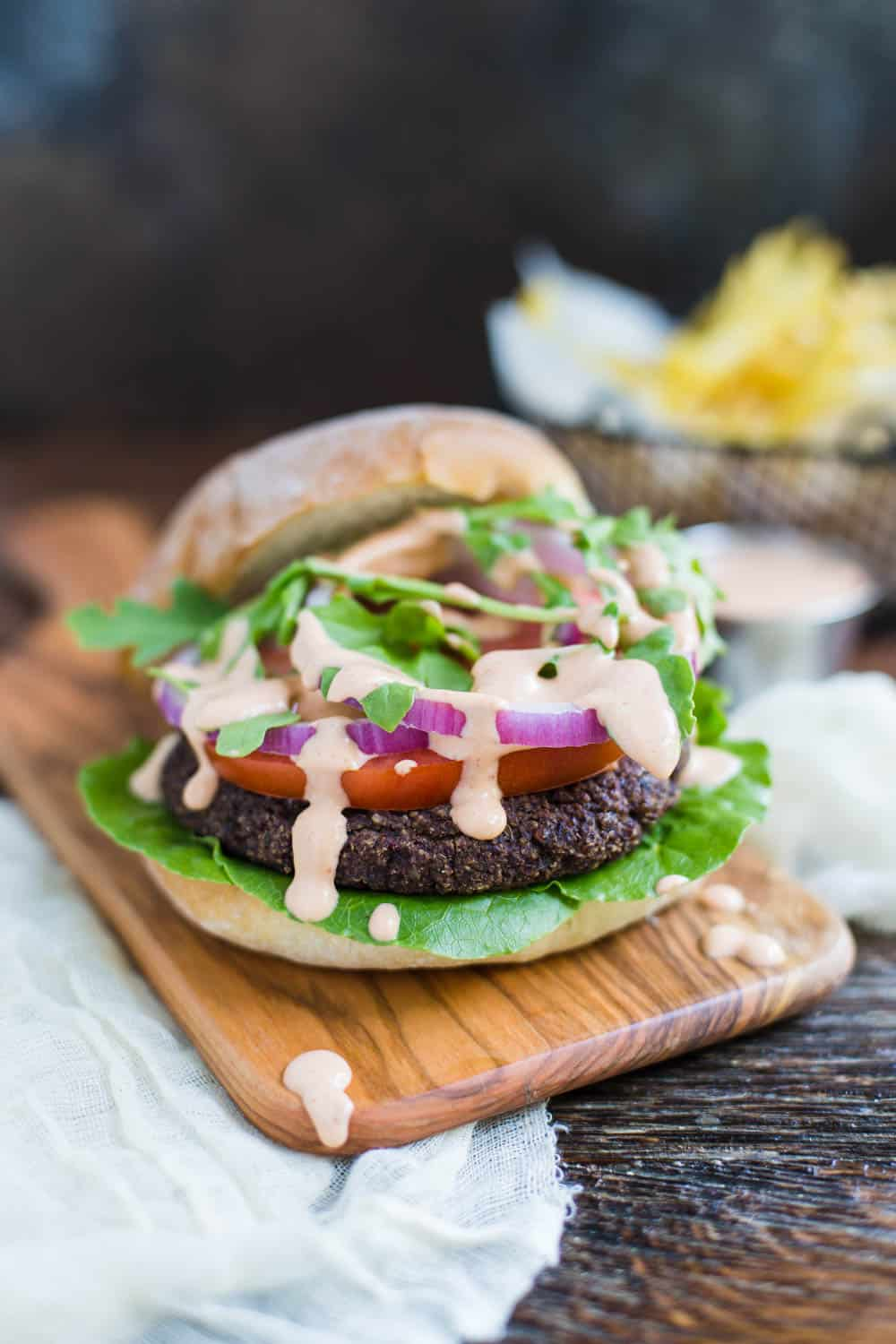 Black Bean & Quinoa Burgers- VEGAN veggie burgers that are easy to make, hold together well, and are SO tasty :)