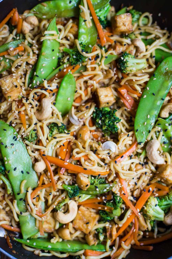 Vegan Chow Mein- easy to make and SO delicious!