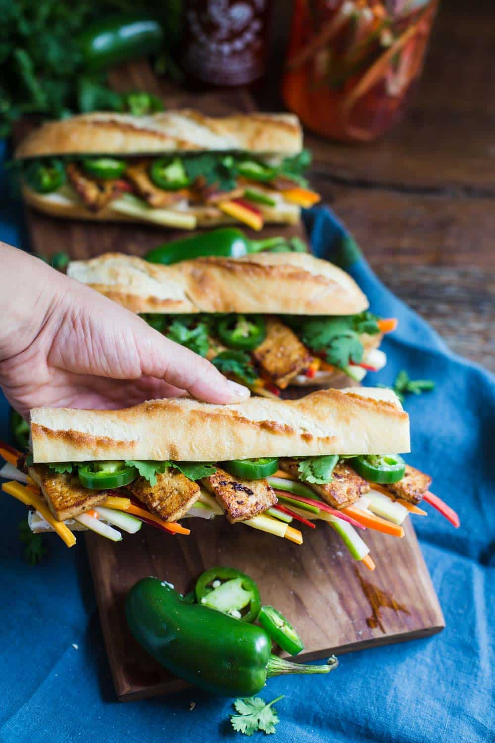 Tofu Banh Mi Sandwich- VEGAN and delicious!!