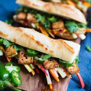 Tofu Banh Mi Sandwich