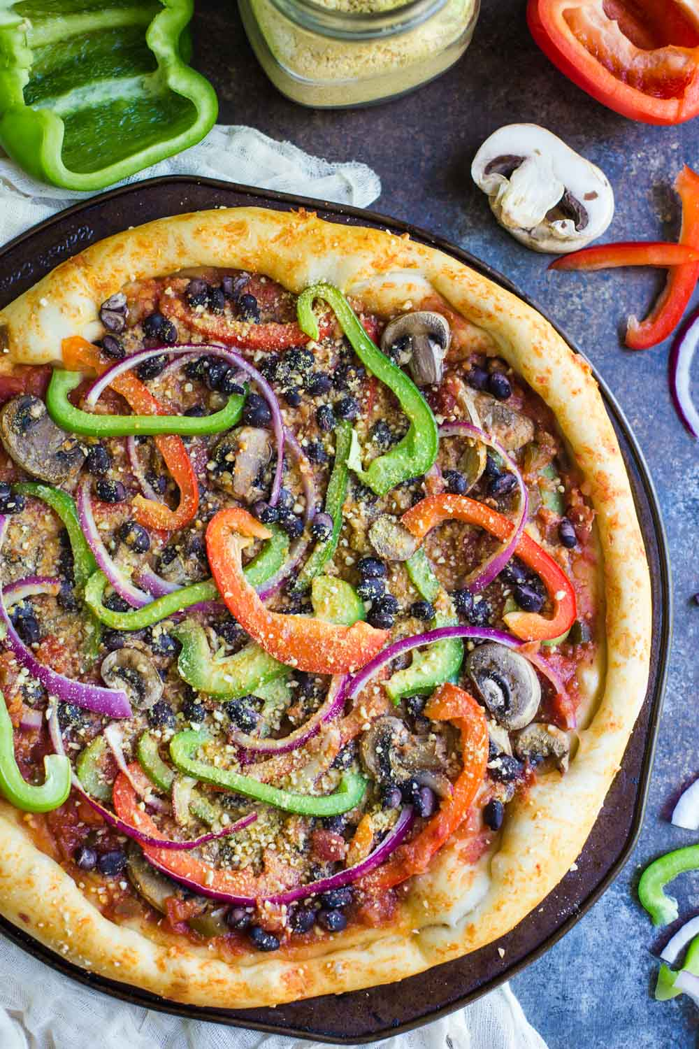 Vegan Fajita Pizza-3