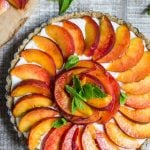 No Bake Peach Pie (V + GF)