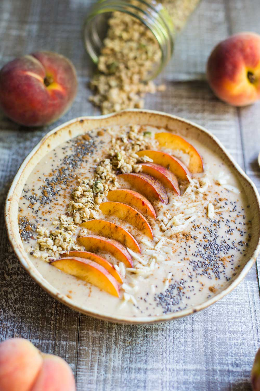 Peach Pie Smoothie Bowl- VEGAN