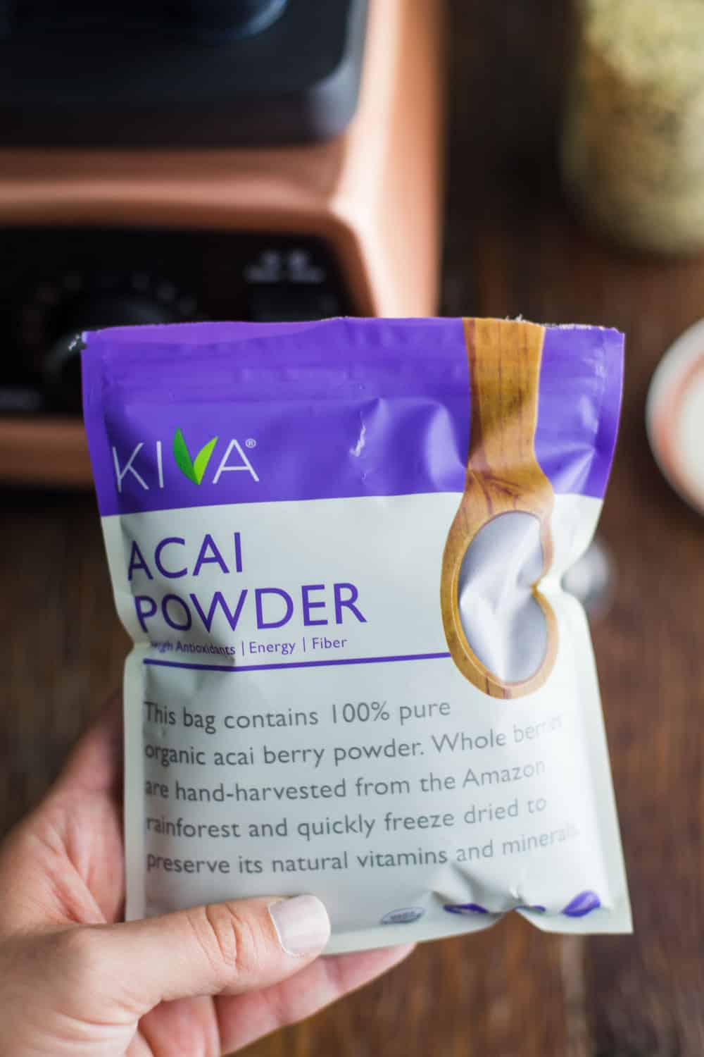 Acai Smoothie- VEGAN and easy to make using powdered acai berry