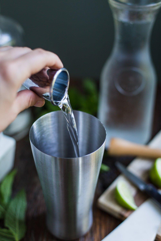 Mojito made with stevia extract