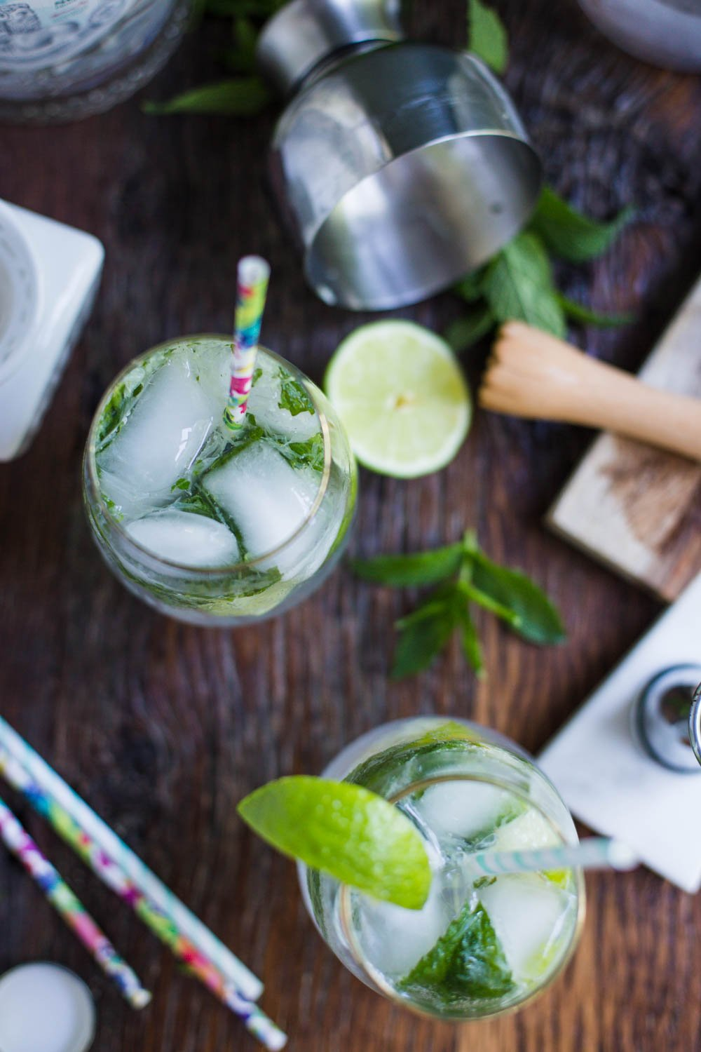 Mojito made with stevia extract