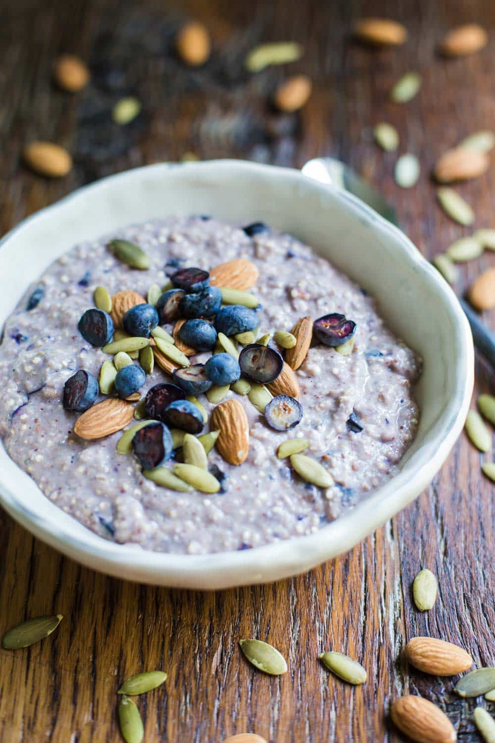 Protein Porridge- this VEGAN recipe is super easy to throw together and makes for a wonderfully protein packed breakfast!