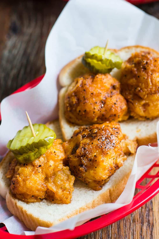 """Cauliflower Nashville Hot """"Chicken""""- authentic Nashville HOT Chicken but vegetarian and VEGAN style. SO GOOD!!"""