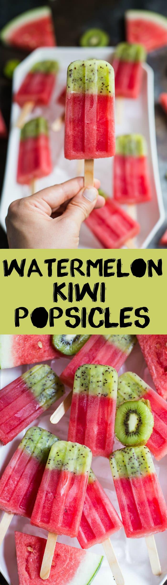 watermelon kiwi popsicles pinterest