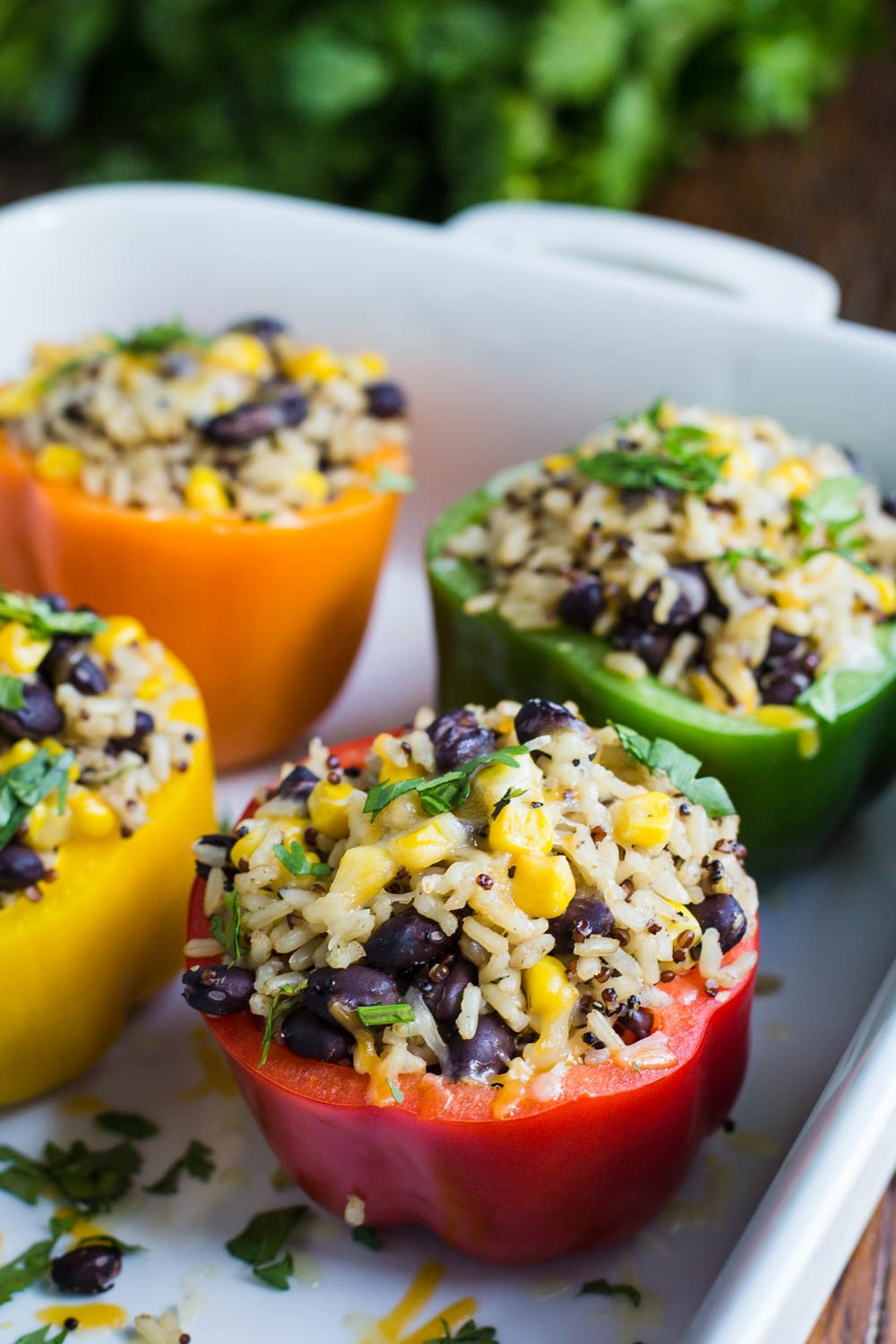 easy stuffed peppers burrito bowl stuffed peppers food with feeling 30605