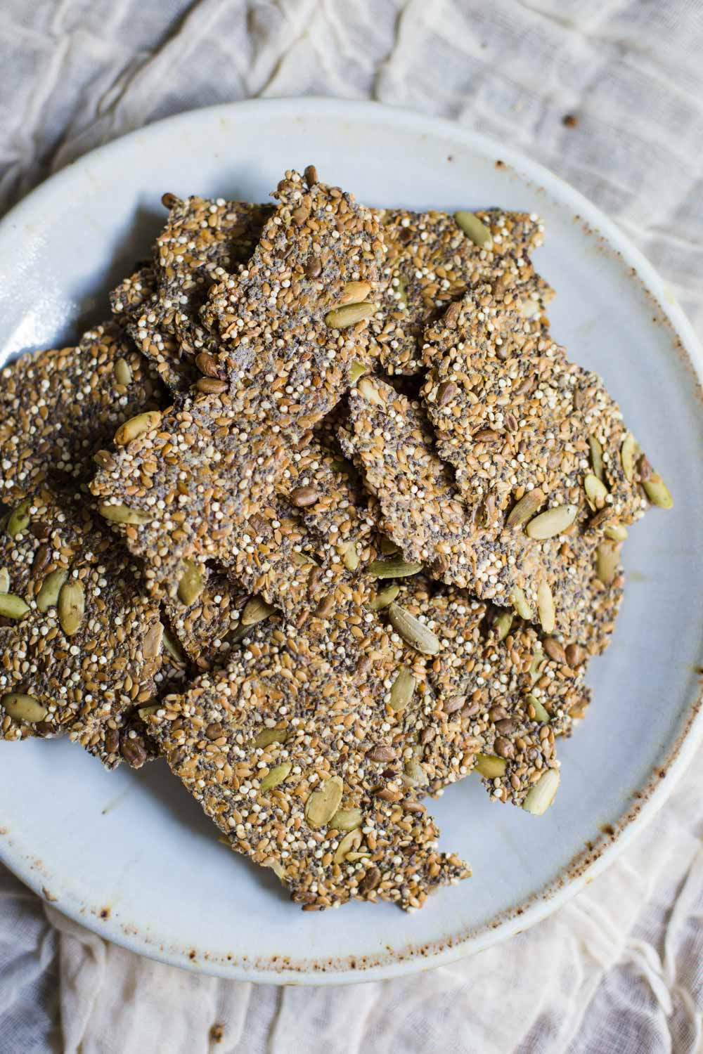 Super Seed Crackers- these VEGAN and GLUTEN FREE crackers are VERY easy to make, healthy, and something that everyone in the family will love.