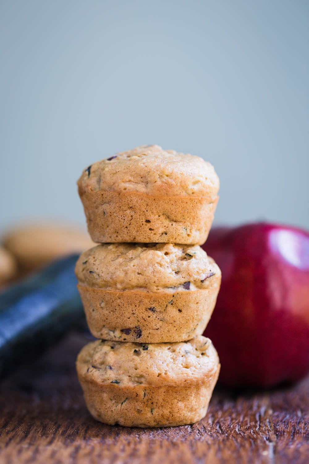 Apple Zucchini Muffins- these muffins are fully VEGAN, easy to make in ONE BOWL and totally satisfying for breakfast or a snack!