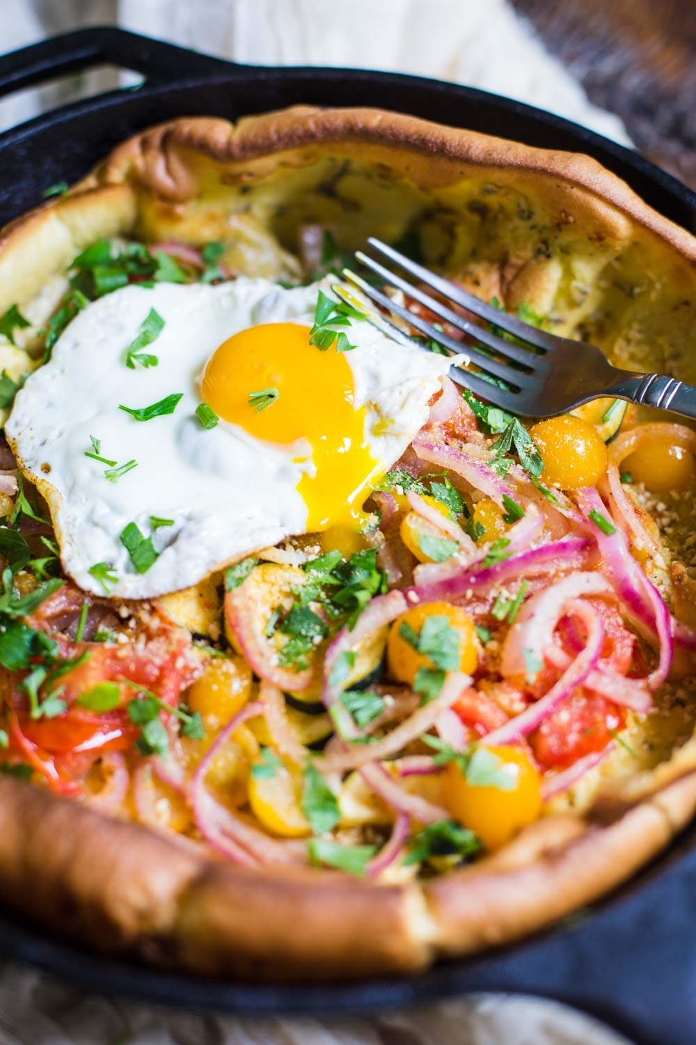 Savory Dutch Baby- Dairy free and delicious!