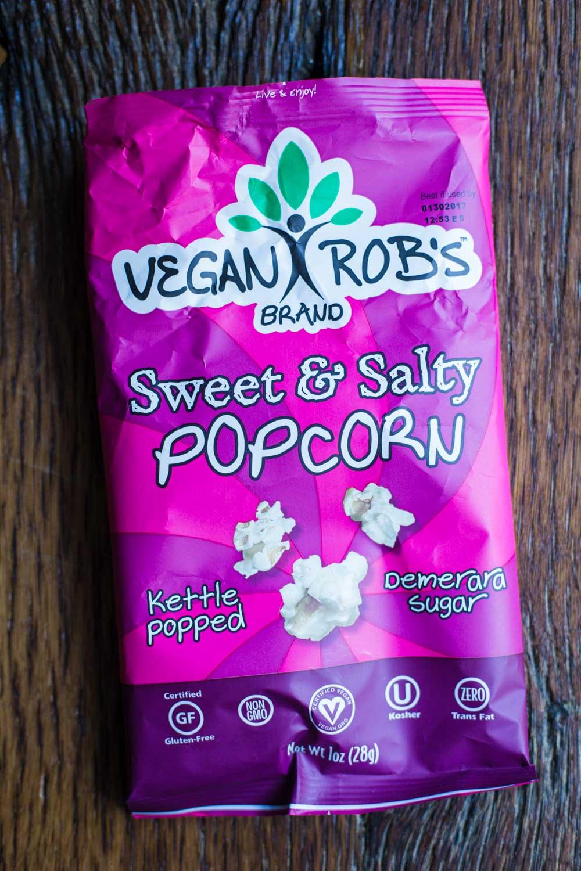 Vegan Rob's Brand Sweet & Salty Popcorn- September Favorites!