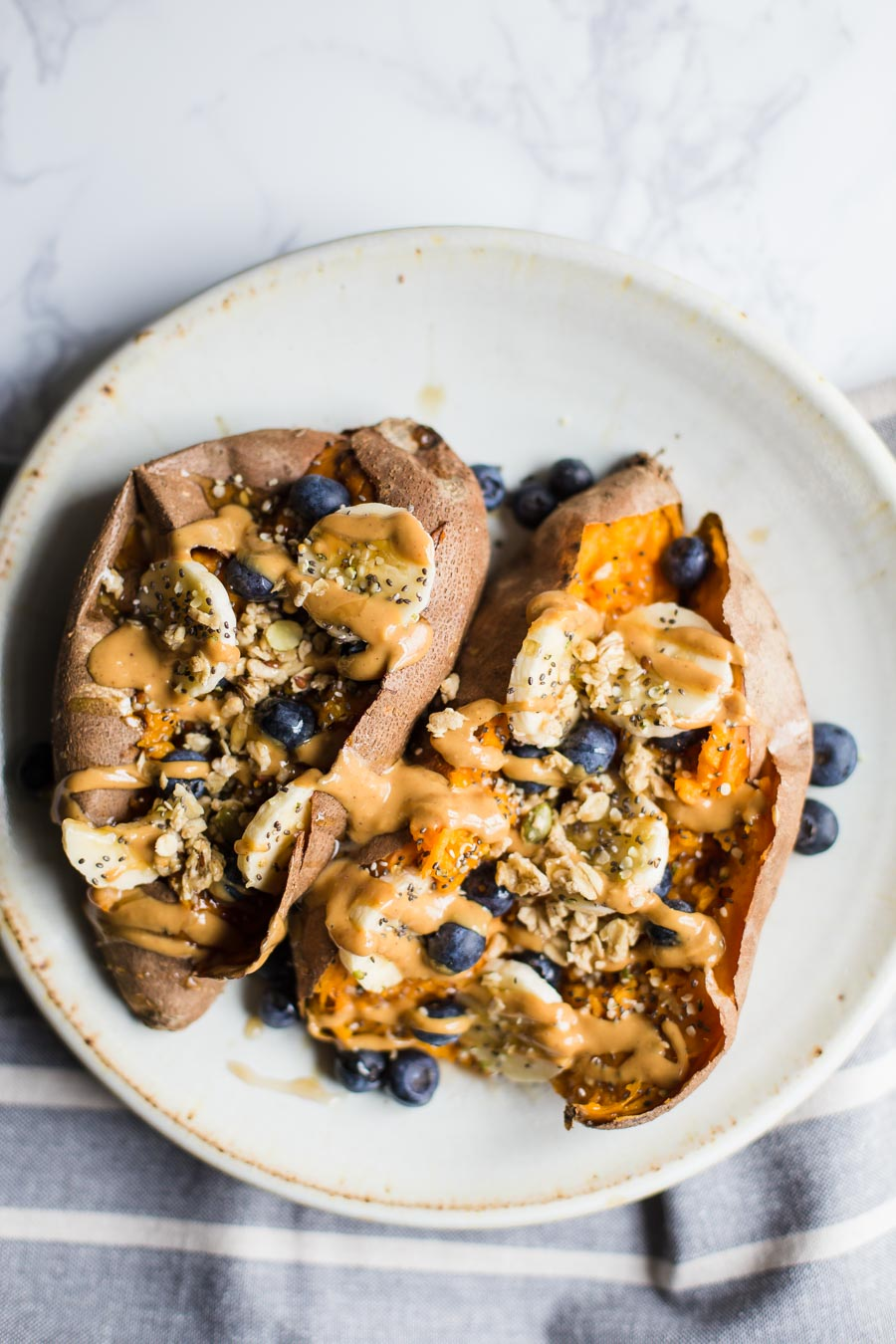 Loaded Breakfast Sweet Potatoes Food With Feeling