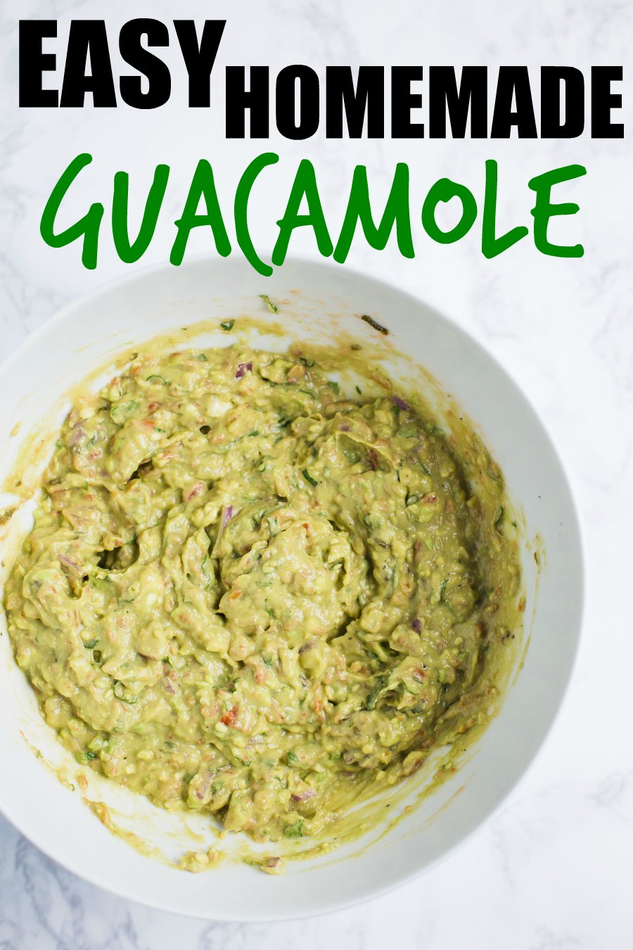 Easy Homemade Guacamole- this guacamole is completely vegan, super easy to make, and packed with whole foods. Perfect for parties or taco night!
