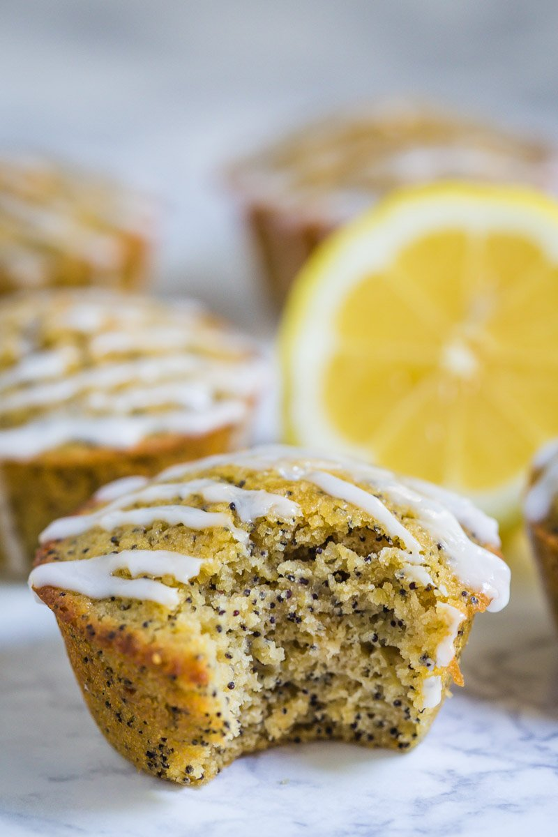 Healthy Lemon Poppyseed Muffins- these breakfast muffins are super easy to throw together, dairy free, and something the whole family will love!