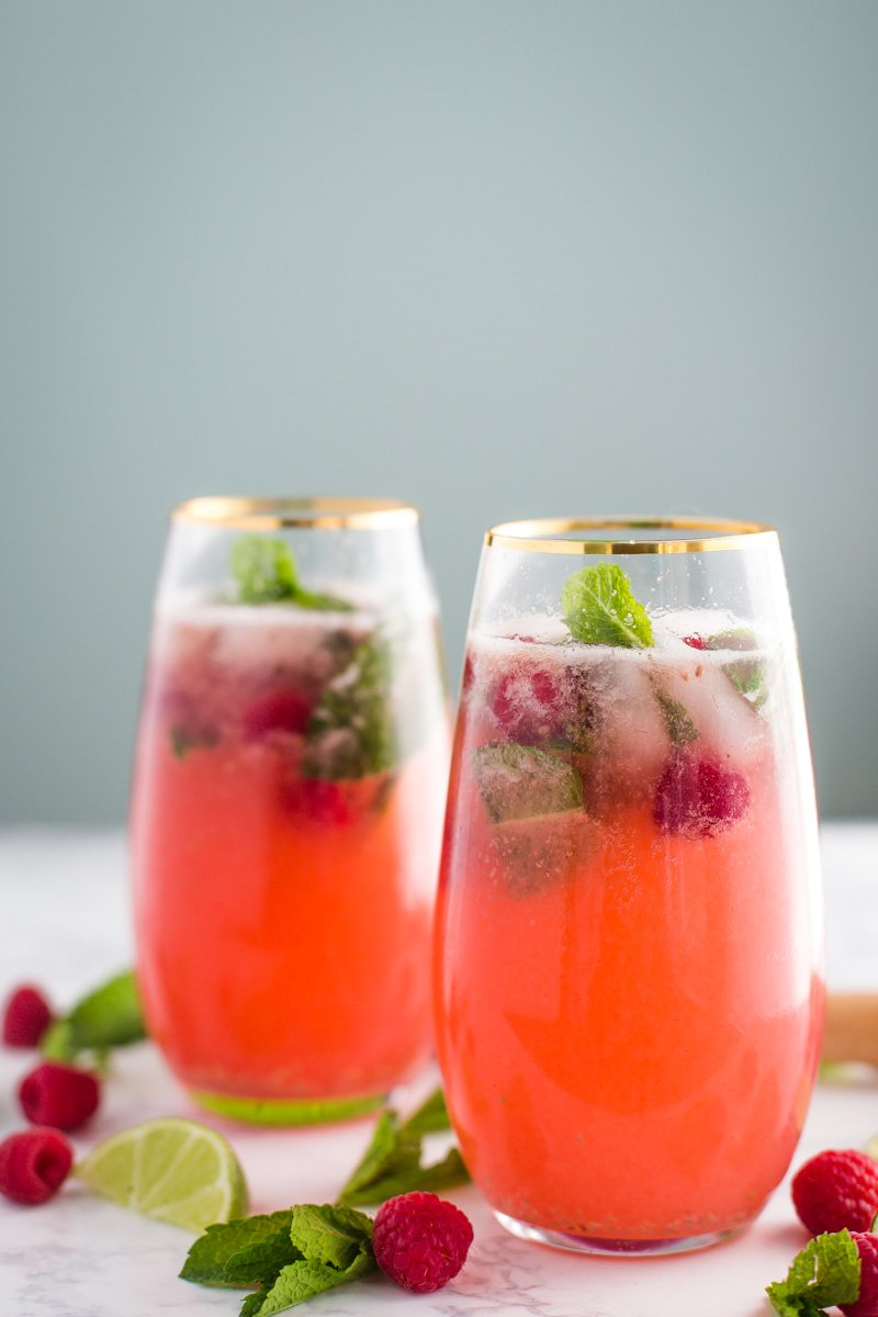 Raspberry Virgin Mojito