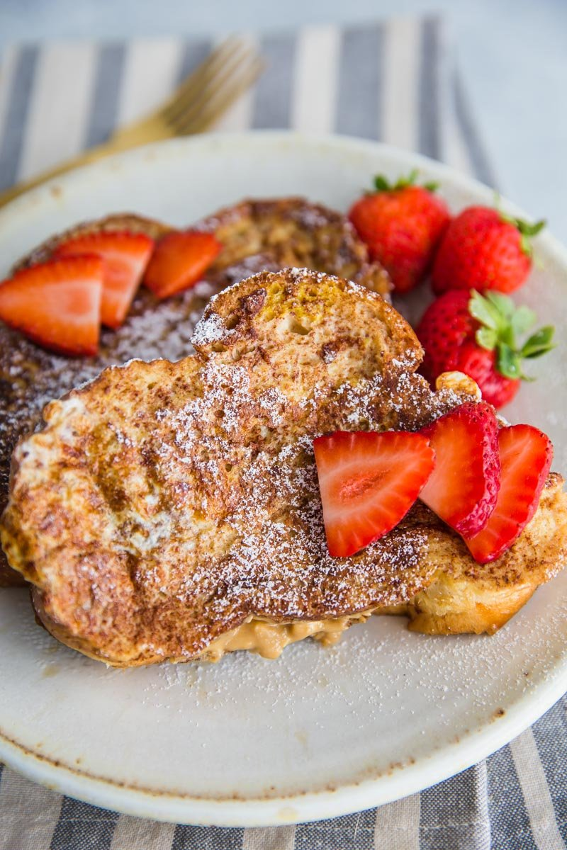 Almond Butter Stuffed French Toast