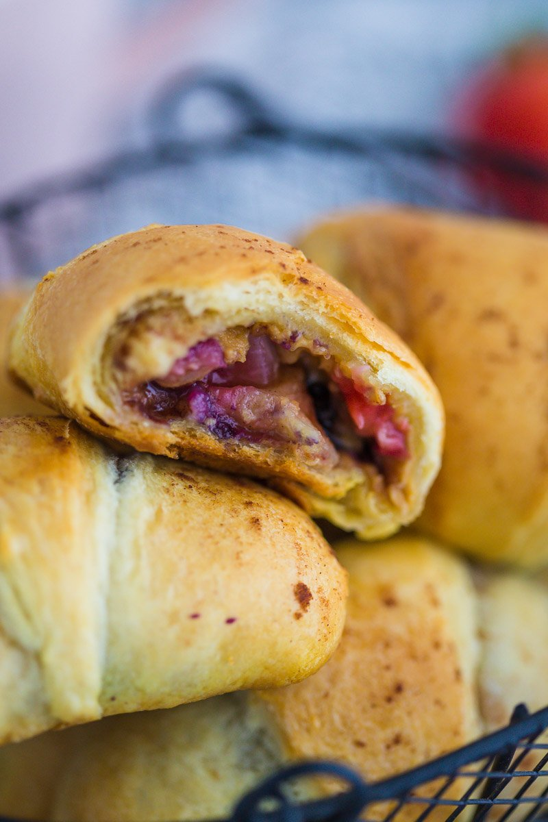 Almond Butter and Berry Filled Crescent Rolls