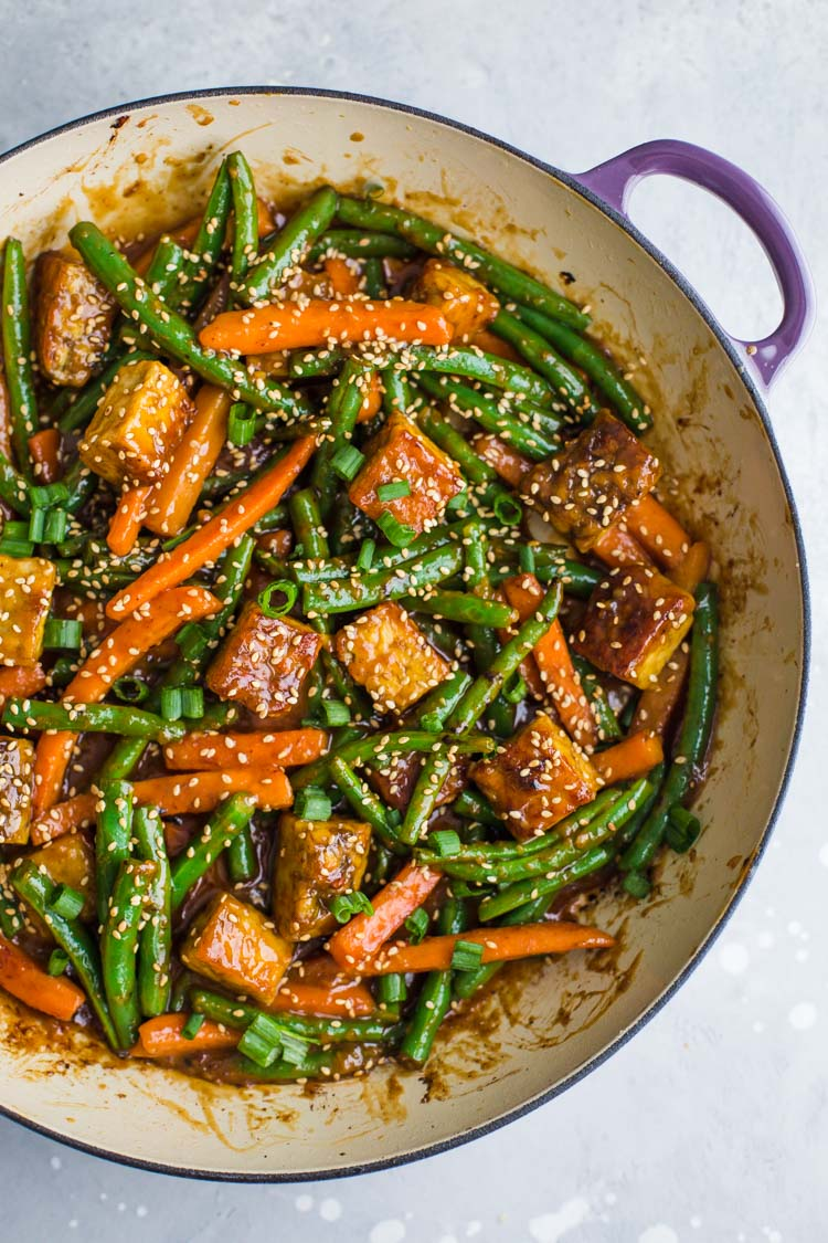 Sesame Ginger Tempeh Stir Fry Food With Feeling