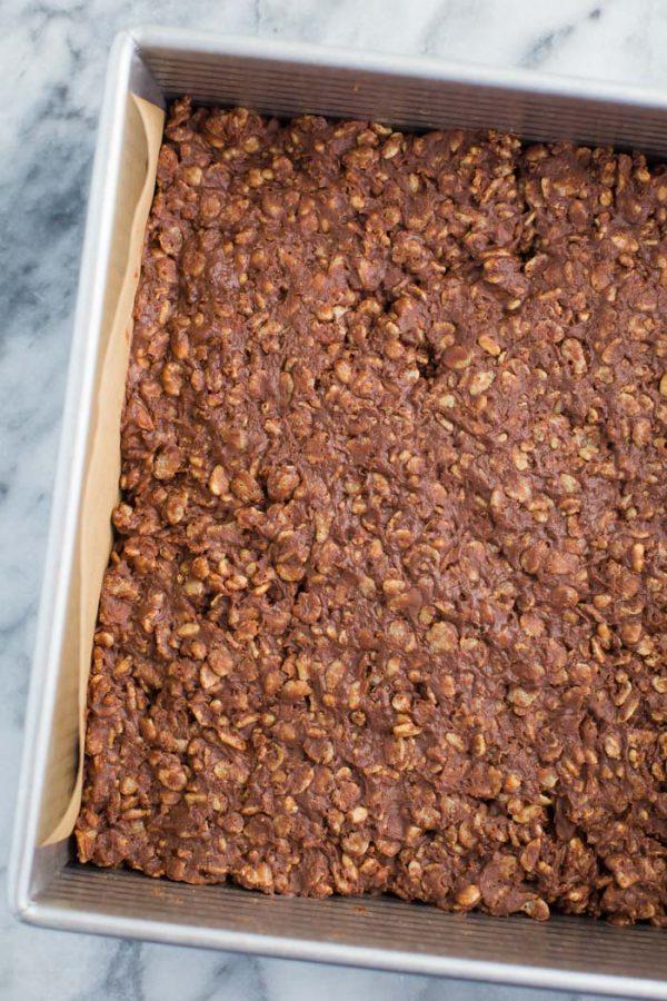 Healthy Rice Crispy Chocolate Bars-Vegan Dessert | FoodWithFeeling.com