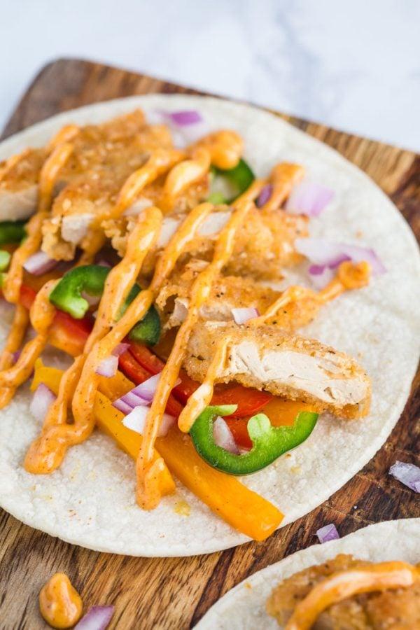 Vegan Crispy Chick'n Tacos