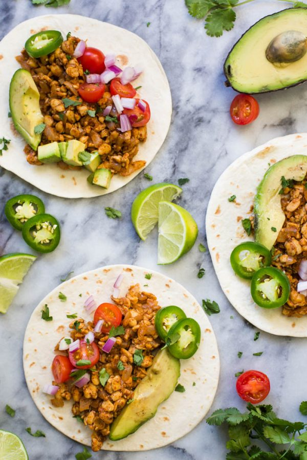 "Tempeh Taco ""Meat""- this vegan and vegetarian meat substitute is perfect for taco night and something the whole family will love!"