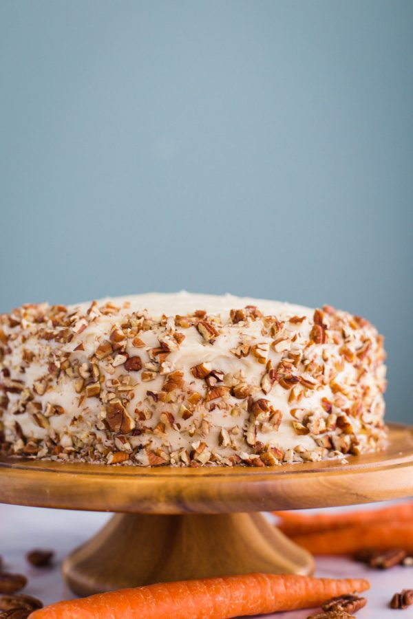 EASY Carrot Cake Recipe- this homemade carrot cake recipe is a family favorite and something we have been making for years!