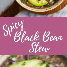 Spicy Black Bean Stew with Turkey- a healthy and easy dinner!