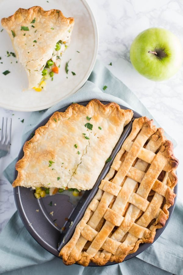 Split Decision Pie Pan: Dinner and Dessert