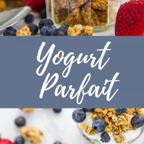 These delicious On the go Yogurt Parfait are perfect for healthy snacking when you're in a hurry! Assemble quickly in the morning for a healthy snack later in the day.