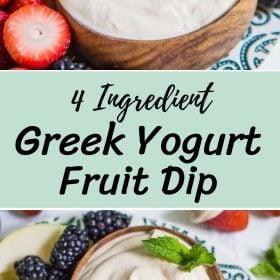4 Ingredient Greek Yogurt Fruit Dip Recipe