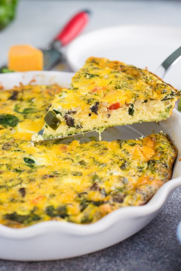 Zucchini Crust Quiche- low carb and the perfect breakfast quiche for any occasion!