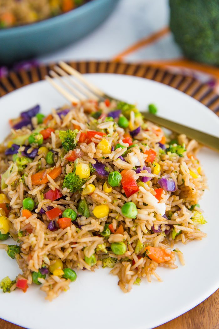 Loaded Veggie Fried Rice Food With Feeling