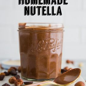 Who knew that it was so easy to make Nutella at home!? This recipe is just THREE simple ingredients and it's vegan and dairy free!