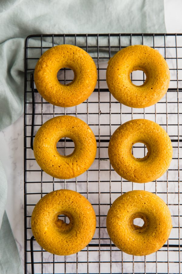 pinterest: Pumpkin Donuts- these VEGAN donuts require just ONE BOWL to make and bake in only ten minutes! You need these in your life asap!