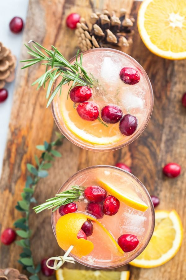 Orange Cranberry Gin and Tonic