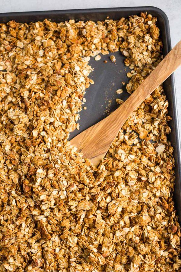 5 Ingredient Peanut Butter Granola