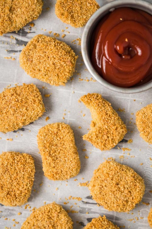EASY Chickpea Nuggets- Vegan AND Gluten Free, these nuggets are the perfect meat-free alternative to your kids favorite meal! Easy to make and so delicious!