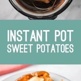 Instant Pot Sweet Potatoes- this recipe shows you how to make the BEST sweet potatoes in your instant pot or pressure cooker and it's so easy! #instantpot #vegan #healthy