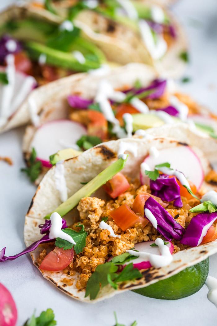 Easy Tofu Tacos Food With Feeling