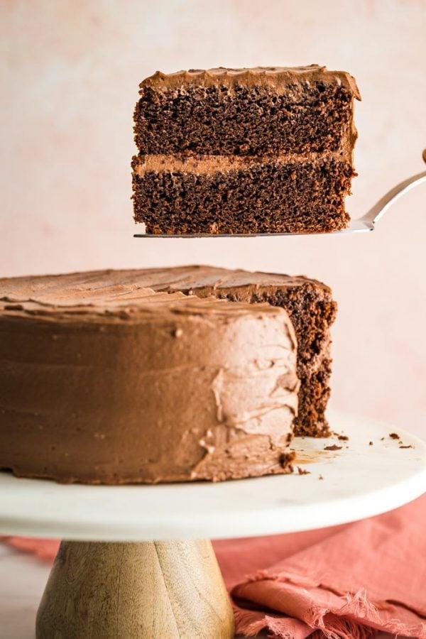 piece of chocolate cake