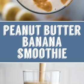 Smoothie De Banana De Manteiga De Amendoim | Comida com sentimento 2