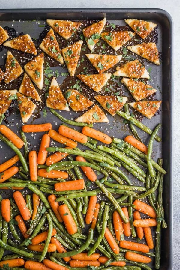 tofu sheet pan meal