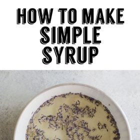 flavored simple syrup