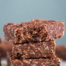Healthy Rice Crispy Chocolate Bars-Vegan Dessert